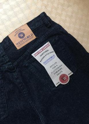 Черные винтажные мом-джинсы westworld на высокой посадке