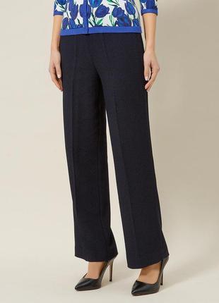 Лаконичные синие прямые брюки precis petite