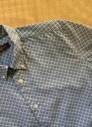 Хлопковая рубашка в геометрический принт
