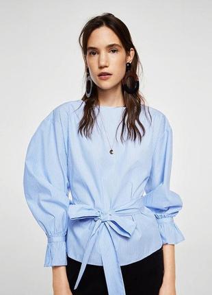 Крутейшая хлопковая полосатая/в полоску блузка/рубашка/топ