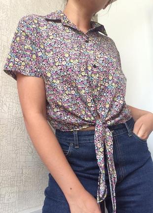 Рубашка/блузка/топ в цветочный принт american apparel