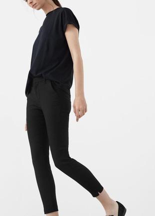 Черные чиносы slim fit/зауженные штаны/брюки