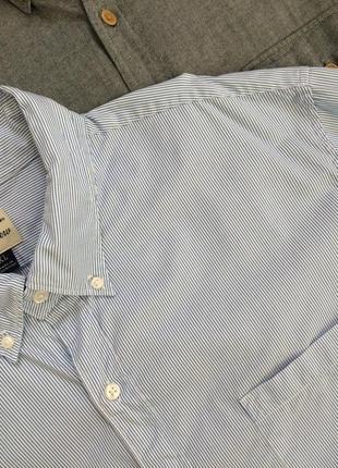 Хлопковая рубашка в полоску slim fit
