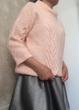 Розовый шерстяной/с шерстью свитер/джемпер