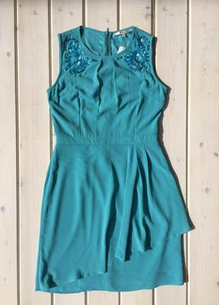 Нежное  платье бирюзового цвета от uttam boutique