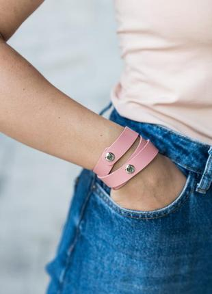 Кожаный браслет, ручная работа, шкіряний браслет.