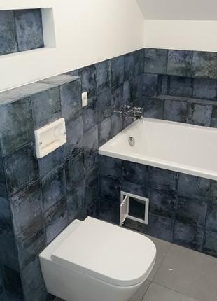Установка  умывальника, унитаза, смесителей, ванной, душувого ...