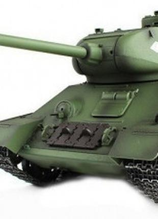 Танк Heng Long T-34 на радиоуправлении, масштаб 1к16 с пневмоп...