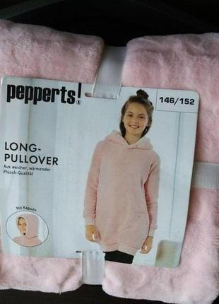 Удлиненный пуловер, толстовка на девочку