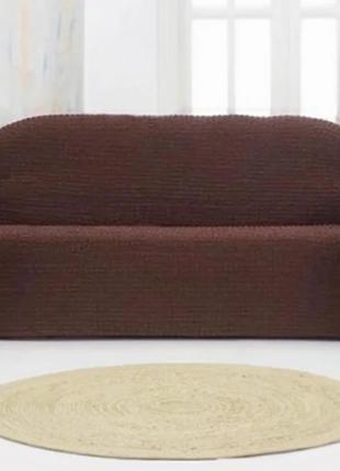 Накидка на диван 3/18 темно-коричневая SKL11-292096