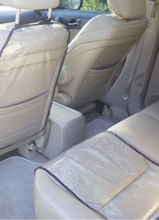 Защита на спинку сиденья и сидушку в машину Organize черная SK...