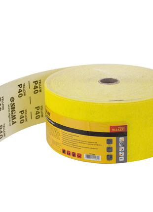 Шлифовальная бумага рулон 115ммх50м P40