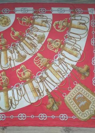 Hermes cliquetis шелковый платок оригинал