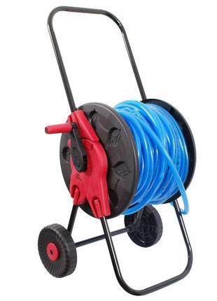 """Катушка на колесах для шланга 1/2"""" 60м. PP, steel, ABS"""