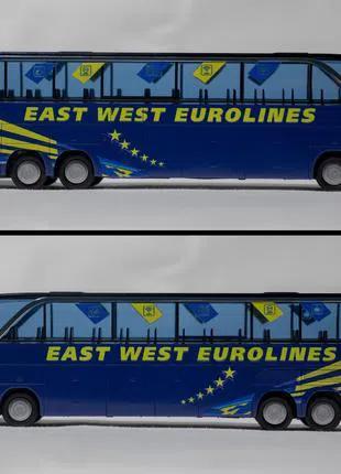 Покрасочные работы, ребрендинг автобусов East West Eurolines..