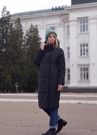 Зимняя куртка стеганая marani эксклюзив дизайнерская зима пуховик