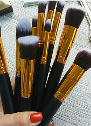 Набор кистей для макияжа 10 шт , кисти для макияжа