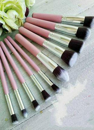 Набор кистей 10 шт, кисти для макияжа