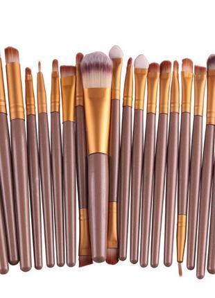 Кисти для макияжа 20 шт , набор кистей