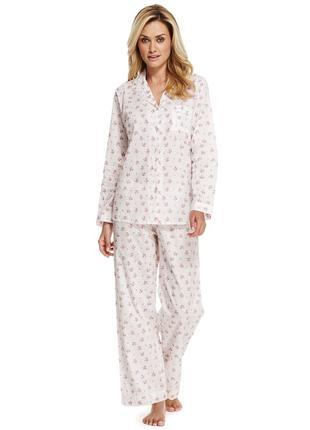 Красивая хлопковая пижама кофта и штаны