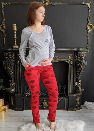 Домашняя одежда для кормящей мамы, пижама-комплект