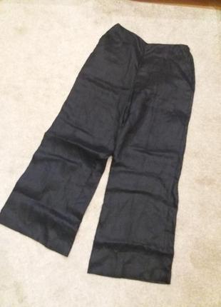 Стильные брюки кюлоты precis  лен 100%  ч6
