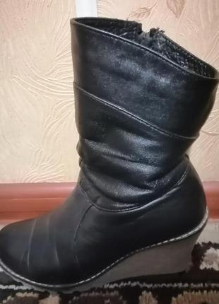 Сапоги женские зимние, полусапожки, ботинки, кожаные