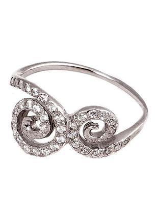 Оригинальное серебряное кольцо «улитка»