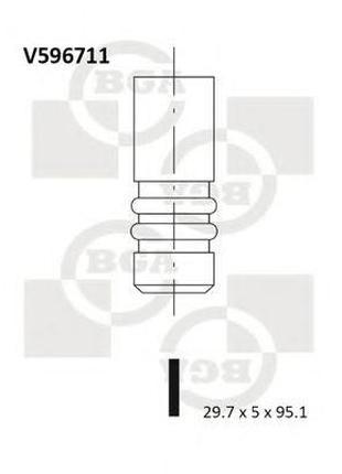 Впускной клапан CITROEN C5   PEUGEOT 406