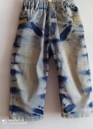 Модные джинсовые бриджи на мальчика