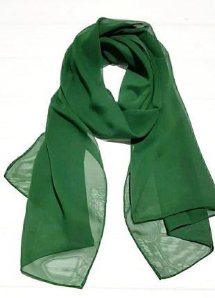 Шифоновый шарф зеленый в наличии