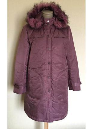 В наличии - зимняя куртка-пальто с капюшоном на синтепоне - р. l