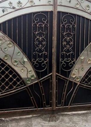 Изготовление и установка, кованых заборов и ворот