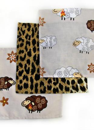 Детские носовые платки. набор из 3 штук. чистый хлопок. быстра...
