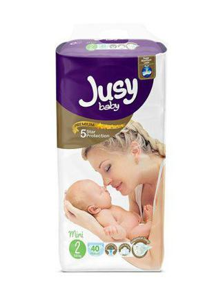 "Детские подгузники ""Jusy mini"" 2 (3-6 кг) Jmini40"