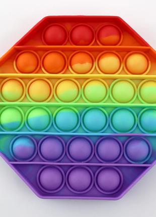 Игрушка антистресс pop it в форме восьмиугольника. опт/розница.