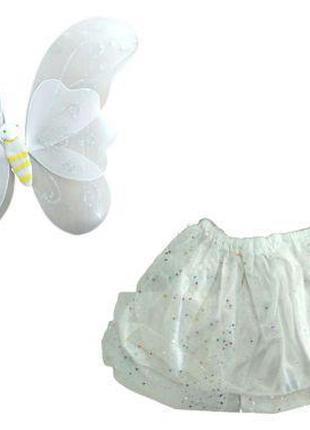 """Карнавальный костюм """"Бабочка с большими крыльями"""" (белый) 0900..."""
