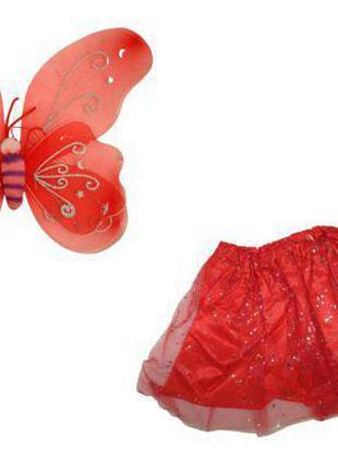 """Карнавальный костюм """"Бабочка с большими крыльями"""" (красный) 09..."""