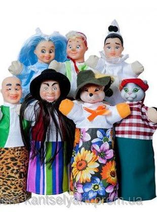 Кукольный театр БУРАТИНО (премиум упаковки 7 персонажей книжка)