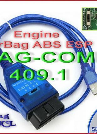 Elm327 USB VAG-COM 409.1 Vag KKL K-Line FTDI OBD2 с Перекл по лин