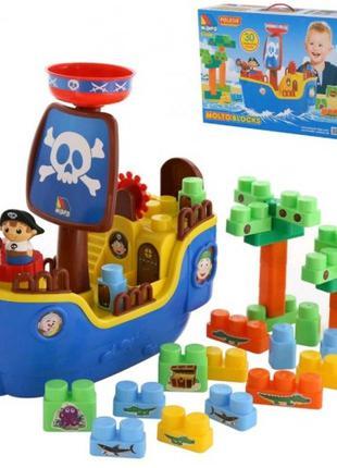 Игра Пиратский корабль + конструктор (30 элементов) (в коробке...