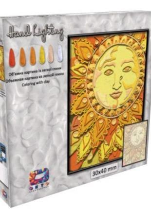 Картина с легкой глины ОКТО 70075 ТМ Moon Light Clay Солнце (к...