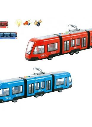 Трамвай инерционный WY930AB муз.свит.видкр.дв.2 кол. корр. 48 ...