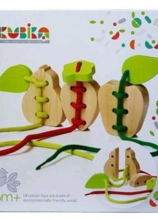 Развивающая игра-вязанки Фрукты (ТМ CUBиKA) деревянная игрушка...