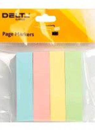 Стикер-закладки DELTA 3445-01 бумажные клейкие 4. Когда прямые...