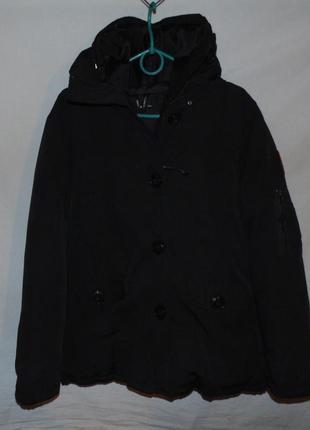 Куртка аляска пуховик зимняя максимально плотная набивка пухом...