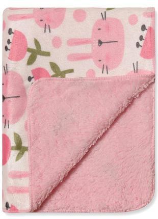 Розовый, мягкий плед для девочки