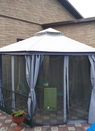 Садовая беседка 2х2х2х2,7м,павильон,намет,шатер,москитка+шторы