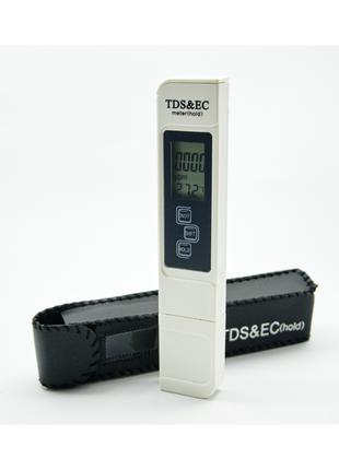 Тестер TDS & EC солемер в чехле новый с батарейками