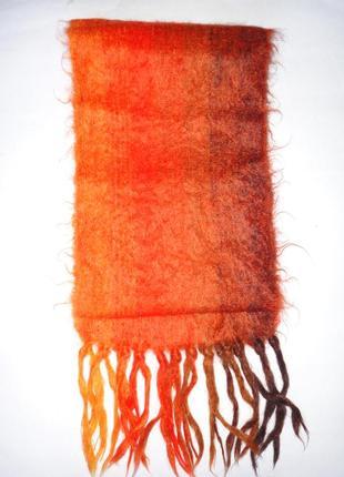 Зимний шарф 100% шерсть   155х22